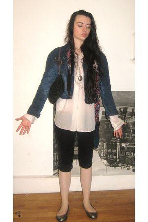 blue old jacket - blue asos scarf