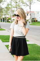 Black Skater Skirt & Jewels