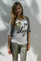 Bershka jeans - pull&bear sweater - Bershka t-shirt - Guess Watches watch