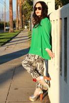 metalic Jeffrey Campbell heels - red flab Alexander Wang bag - silk H&M blouse