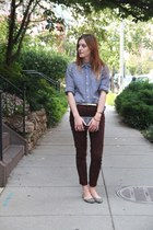 Target pants - La Petite Marmoset purse - JCrew blouse