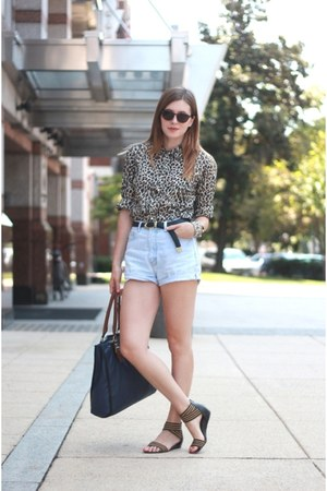 JCrew blouse - La Petite Marmoset shorts