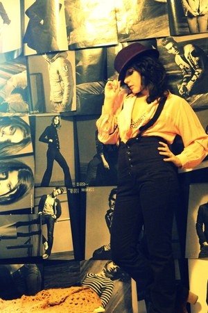 brown Igi & Co shoes - light orange Pure Silk shirt - dark brown Rose Back suit