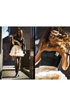 American Apparel skirt - BLANCO bodysuit
