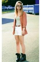 coral H&M blazer