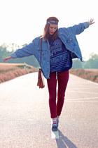 sky blue vintage vest
