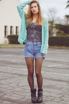 aquamarine inlovewithfashion cardigan