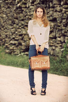 blue Bershka jeans - black San Marina shoes - white H&M shirt