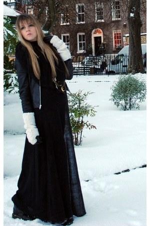 Topshopshop jacket - vintage skirt - River Islandnd skirt - doc martens boots -