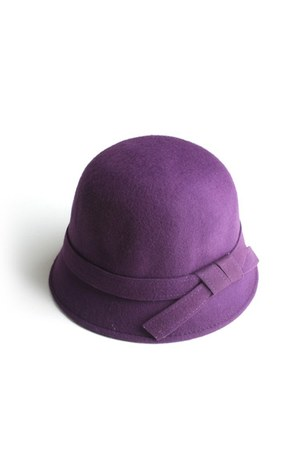 deep purple wool bucket LYLIF hat