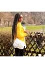 Black-river-island-shoes-yellow-zara-sweater-white-h-m-bag-black-pants