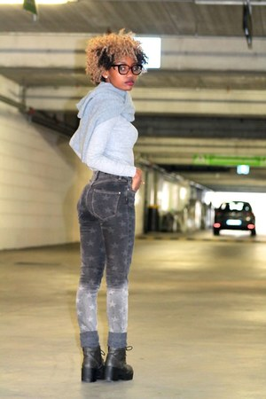 silver River Island jeans