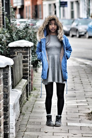 silver American Apparel dress