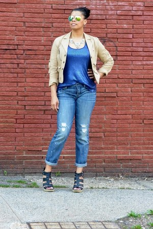 mirrored Ebay sunglasses - boyfriend jeans American Apparel jeans