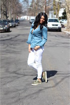 chambray 10 Spot top - Payhalf jeans - Converse sneakers