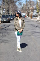 cargo JCPenney jacket - Payhalf jeans - beret Daffys hat