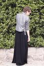 Black-forever-new-dress-silver-jacket