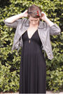 Black-forever-new-dress-silver-jacket