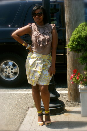 random brand blouse - H&amp;M skirt - Zara heels