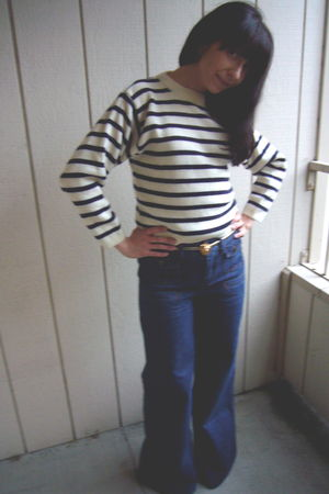 vintage sweater - vintage belt - See by Chloe jeans