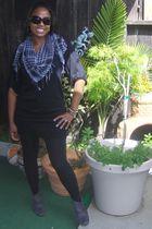black Forever 21 sweater - black Forever 21 leggings - gray Forever 21 boots - r