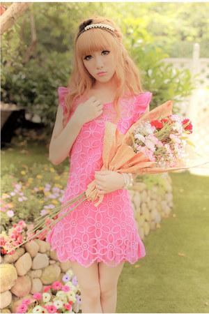 mesh polyester dress