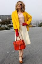 gold vintage jacket - bubble gum vintage sweater