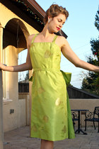 vintage dress - Gucci heels