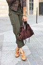 Coral-zara-jacket-brown-nine-west-shoes-deep-purple-fracesco-biasia-bag