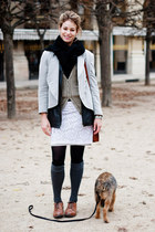 Forever21 skirt - vintage blazer - coach purse - Gap socks