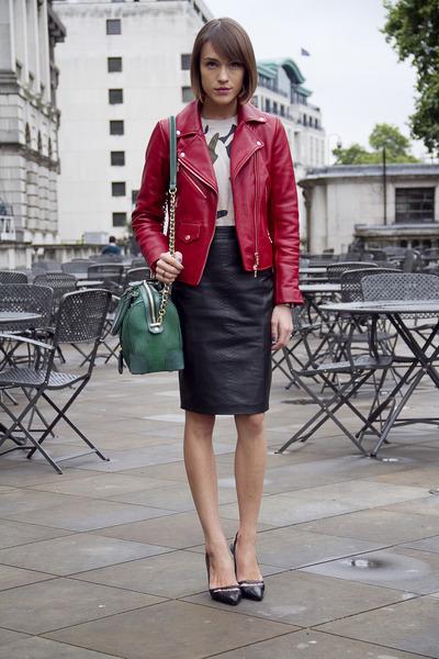 Club Monaco jacket - whistles sweater - Alice  Olivia bag - Kurt Geiger heels