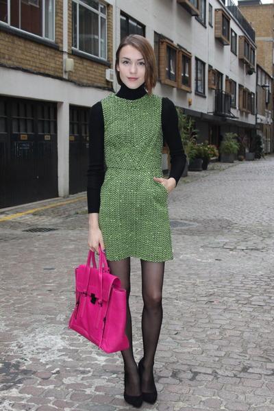 31 Phillip Lim bag - Topshop dress - Uniqlo sweater - Kurt Geiger heels