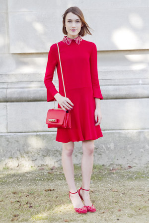 Valentino dress - Valentino bag - Valentino heels