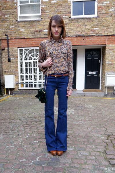 Topshop jeans - Massimo Dutti boots - Paul & Joe Sister shirt - Topshop bag