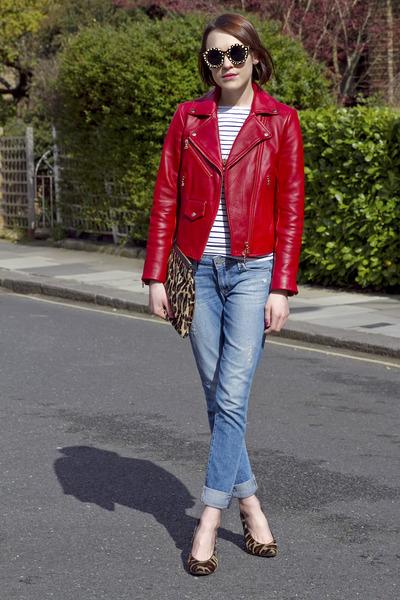 Club Monaco jacket - Paige Denim jeans - Hobbs bag - Hobbs heels