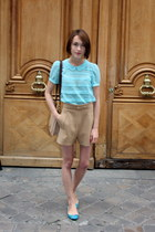 French Sole flats - whistles bag - whistles shorts - whistles blouse