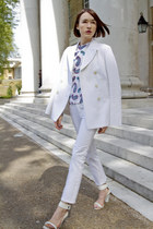 joseph jacket - JW Anderson top - tory burch pants - Eddie Borgo bracelet