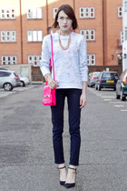 Kenzo sweatshirt - Guess bag - Juicy Couture pants - Sophia Webster heels