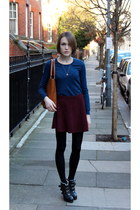 Urban Outfitters boots - Massimo Dutti sweater - Anya Hindmarch bag - American A