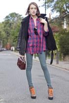 Ralph Lauren boots - Hudson jeans - whistles jacket - River Island shirt