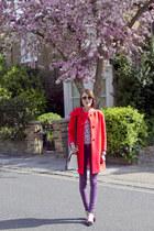 kate spade coat - Hudson jeans - JCrew shirt - kate spade bag