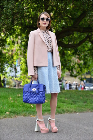 Mulberry jacket - Mulberry bag - Mulberry blouse - Mulberry skirt