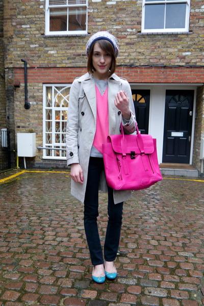Comptoir des cottoniers coat - J Brand jeans - Accessorize hat