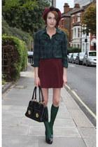 American Apparel skirt - Topshop hat - H&M shirt - Marc Jacobs bag - COS socks