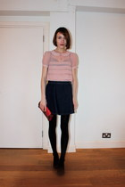 Topshop blouse - Oliver Bonas bag - American Apparel skirt