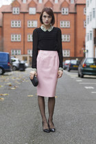 Anya Hindmarch bag - Kurt Geiger heels - whistles blouse - Topshop skirt