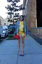 Frame Denim jacket - Paul and Joe Sister bag - Alice and Olivia shorts