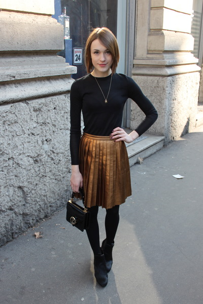 Gucci bag - joseph sweater - Anne Bowes Jewelleru necklace - Gucci skirt