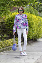 Carven jumper - Paige Denim jeans - Rebecca Minkoff bag - Kite sunglasses