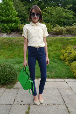 Michael Kors bag - J Brand jeans - Boutique by Jaeger shirt - Topshop sunglasses
